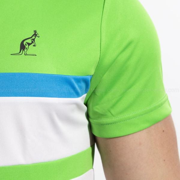 Australian Ace Block Polo - Bianco/Verde Kawasaki