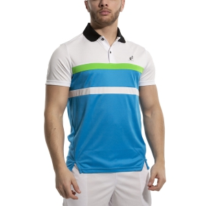 Men's Tennis Polo Australian Ace Block Polo  Turchese/Bianco 78391605
