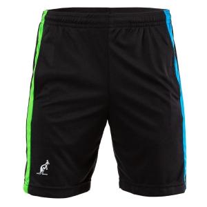 Men's Tennis Shorts Australian Ace Lines 7in Shorts  Nero/Turchese/Kawasaki 75092003