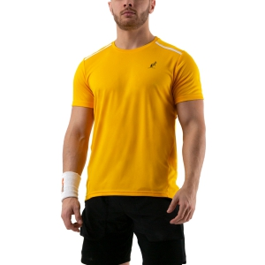 Maglietta Tennis Uomo Australian Ace Maglietta  Arancio/Bianco 78528425