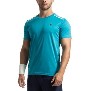 Maglietta Tennis Uomo Australian Ace Maglietta  Azzurro 78528490
