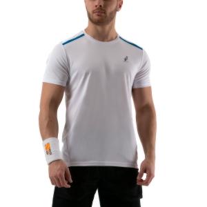 Maglietta Tennis Uomo Australian Ace Maglietta  Bianco 78528002A