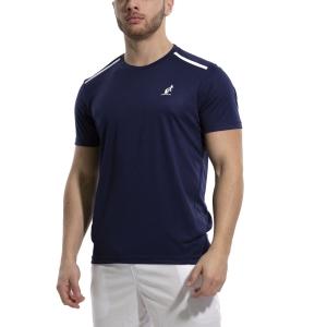 Maglietta Tennis Uomo Australian Ace Maglietta  Blu Cosmo 78528842A