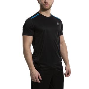 Men's Tennis Shirts Australian Ace TShirt  Nero/Turchese 78528003A
