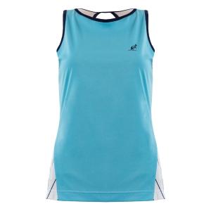 Women`s Tennis Tanks Australian Ace Pinstripes Tank  Azzurro/Bianco 76129490