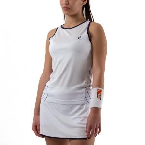 Canotte Tennis Donna Australian Ace Pinstripes Canotta  Bianco/Blu 76129002