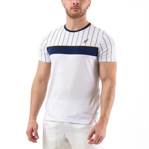 Camisetas de Tenis Hombre Australian Ace Pinstripes Camiseta  Bianco/Blu 78520002