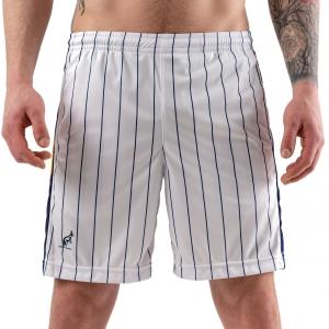 Men's Tennis Shorts Australian Ace Pinstripes 7in Shorts  Bianco/Blu/Arancio 75086002A