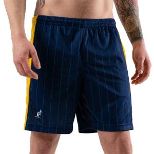 Pantalones Cortos Tenis Hombre Australian Ace Pinstripes 7in Shorts  Blu/Arancio/Azzurro 75086842
