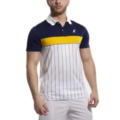 Australian Ace Pinstripes Polo - Bianco/Blu