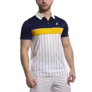 Men's Tennis Polo Australian Ace Pinstripes Polo  Bianco/Blu 78389002