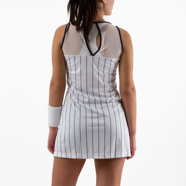 Australian Ace Pinstripes Dress - Bianco/Blu