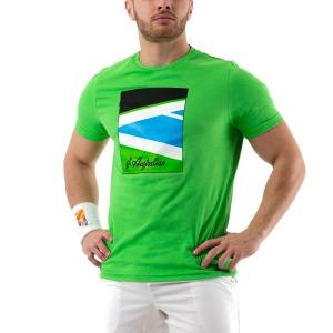 Men's Tennis Shirts Australian Court TShirt  Verde Kawasaki 78592316