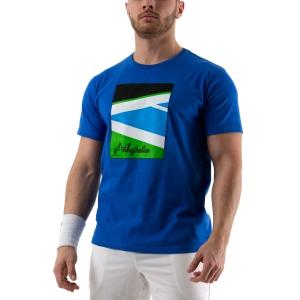 Men's Tennis Shirts Australian Court TShirt  Blu 78592809