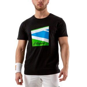 Men's Tennis Shirts Australian Court TShirt  Nero 78592003
