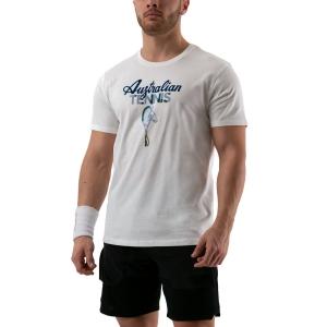Men's Tennis Shirts Australian Graphic TShirt  Bianco 78577002
