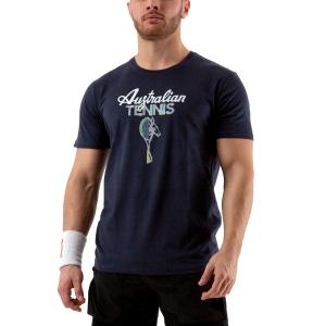 Men's Tennis Shirts Australian Graphic TShirt  Navy 78577200
