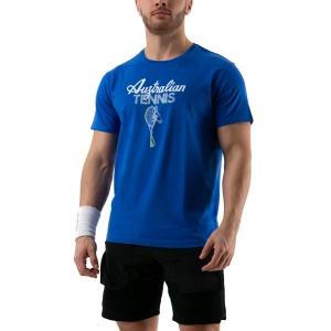 Men's Tennis Shirts Australian Graphic TShirt  Blu 78577809