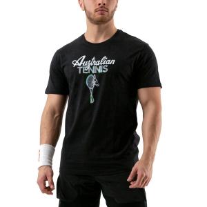 Men's Tennis Shirts Australian Graphic TShirt  Nero 78577003