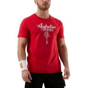 Maglietta Tennis Uomo Australian Graphic Maglietta  Rosso 78577720