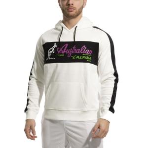 Men's Tennis Shirts and Hoodies Australian Interlock Hoodie  Bianco/Nero 88690002