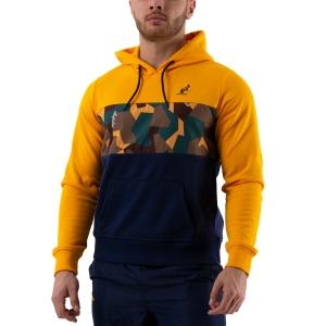 Men's Tennis Shirts and Hoodies Australian Interlock Hoodie  Blu/Arancio/Camo 88677425