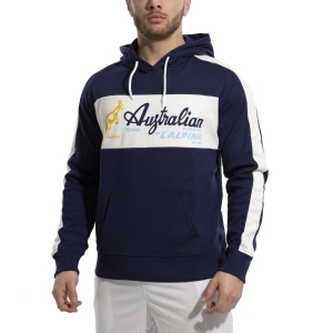 Camisetas y Sudaderas Hombre Australian Interlock Sudadera  Blu Cosmo/Bianco 88690842