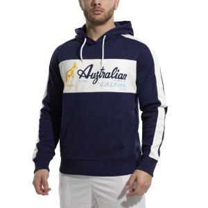 Men's Tennis Shirts and Hoodies Australian Interlock Hoodie  Blu Cosmo/Bianco 88690842