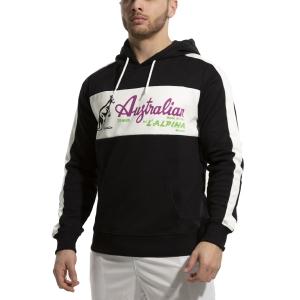Men's Tennis Shirts and Hoodies Australian Interlock Hoodie  Nero/Bianco 88690003