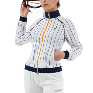 Tennis Women's Jackets Australian Slam Pinstripes Jacket  Bianco/Blu 76608002