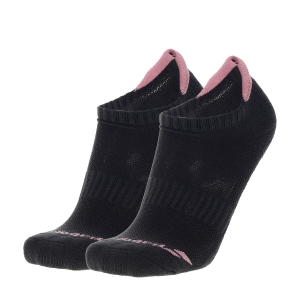 Calcetines de Tenis Babolat Invisible x 2 Calcetines Mujer  Black/Geranium Pink 5WA13612014