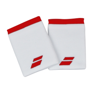Fasce e Polsini Tennis Babolat Logo Jumbo Polsini  White/Tomato Red 5UA12621031