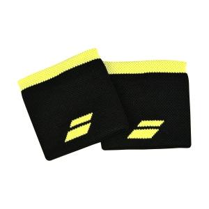 Fasce e Polsini Tennis Babolat Logo Polsini  Black/Sulphur Spring 5UA12612015