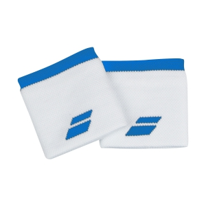 Tennis Head and Wristbands Babolat Logo Wristbands  White/Blue Aster 5UA12611030