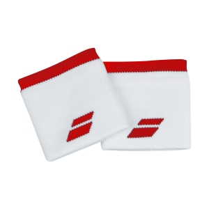 Tennis Head and Wristbands Babolat Logo Wristbands  White/Tomato Red 5UA12611031