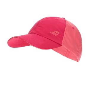 Tennis Hats and Visors Babolat Basic Logo Cap Girl  Red Rose 5JA12215028