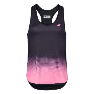 Women`s Tennis Tanks Babolat Compete Tank  Black/Geranium Pink 2WS200712014