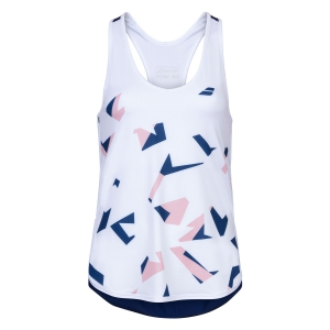 Top y Camisetas Niña Babolat Compete Top Nina  White/Estate Blue 2GS200711005