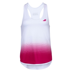 Babolat Compete Tank Girl - White/Vivacious Red