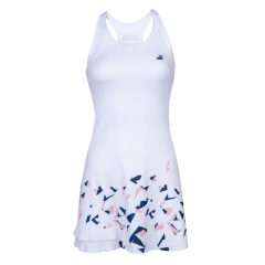 Babolat Compete Dress Girl - White/Estate Blue