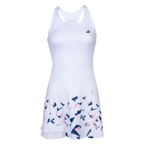 Tennis Dress Girl Babolat Compete Dress Girl  White/Estate Blue 2GS200911005