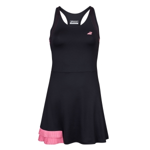 Tennis Dress Babolat Compete Dress  Black/Geranium Pink 2WS200912014