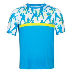 Men's Tennis Shirts Babolat Crew TShirt  Malibu Blue 2MS200114062