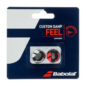 Vibration Dampener Babolat Custom x 2 Dampeners  Black/Red 700040189