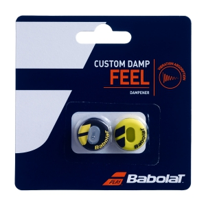 Vibration Dampener Babolat Custom x 2 Dampeners  Black/Yellow 700040142