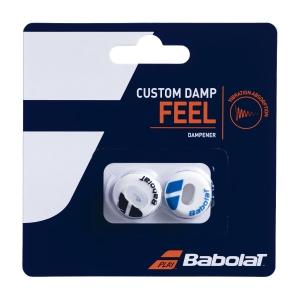 Vibration Dampener Babolat Custom x 2 Dampeners  White/Blue 700040153