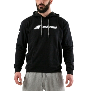 Men's Tennis Shirts and Hoodies Babolat Exercise Hoodie  Black 4MP10412000