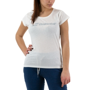 Women`s Tennis T-Shirts and Polos Babolat Exercise TShirt  White 4WP14411000