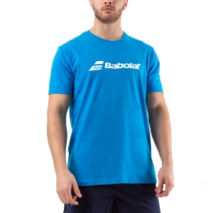 Men's Tennis Shirts Babolat Exercise TShirt  Blue Aster Heather 4MP14414052