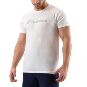 Men's Tennis Shirts Babolat Exercise TShirt  White 4MP14411000
